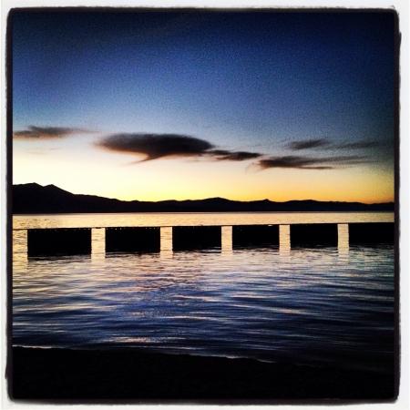 south lake tahoe: Sunset in South Lake Tahoe. Stock Photo