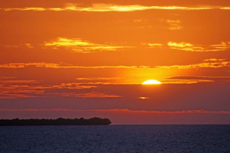 perish: The sun sets golden under the Black Sea