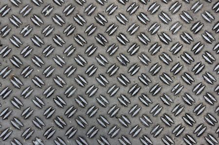 Metal floor with pattern