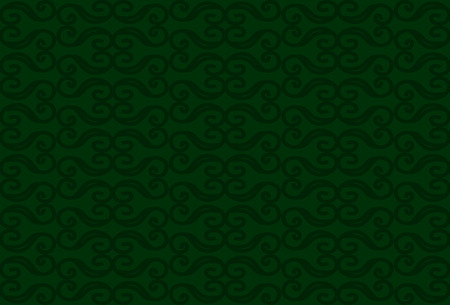 elegantly: Abstract vintage seamless pattern. Monograms on green background