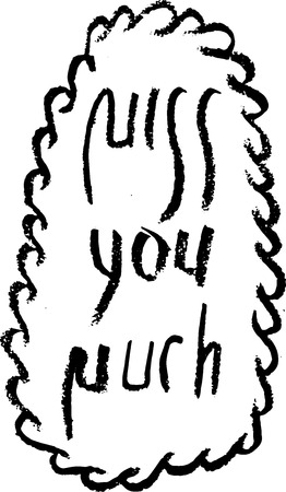 Sketch Miss you much Illustration