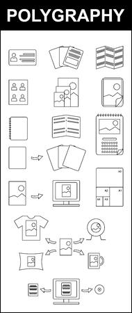 다원 기록법, 인쇄 일러스트