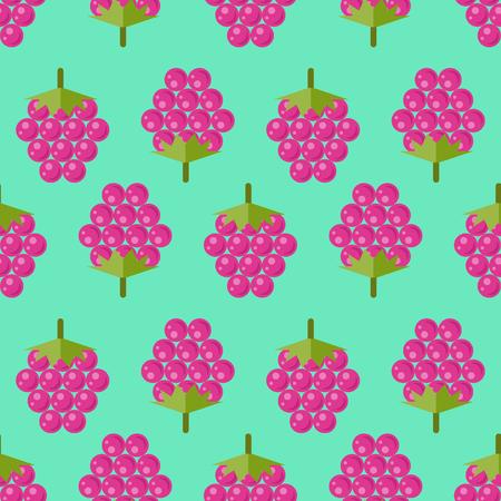 Raspberry seamless pattern, raspberries on aquamarine background