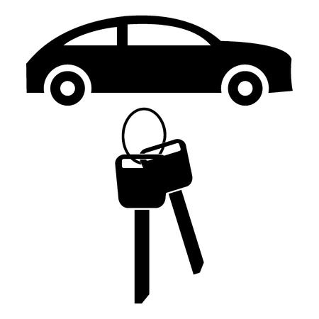 rental: Car rental flat icon Illustration