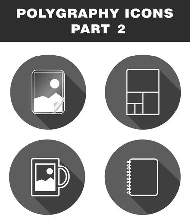 다각형 아이콘. 라미네이션, 와이드 포맷 인쇄, 기념품, 수첩 일러스트