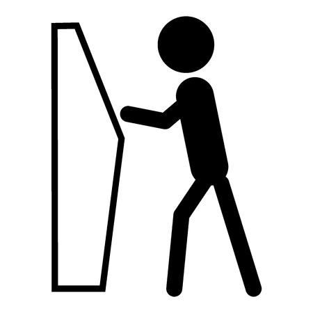 Self service check-in icon Ilustração Vetorial