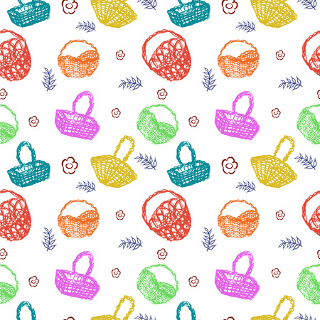 Multicolored baskets pattern