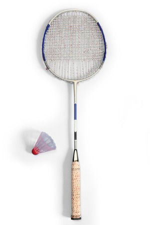 d i y: Badminton through long used  Stock Photo