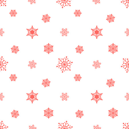 Snowflake Pastel Red Colour White Background Christmas Pattern Cool Christmas Pattern Wallpaper