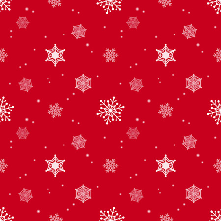 Snowflake Red Colour Background Christmas Pattern Tint Layer Adorable Christmas Pattern Wallpaper