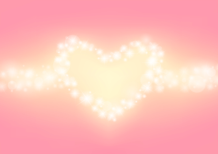 twinkle: romantic sparkle abstract background, heart glitter sparking with pink background, wedding twinkle background, vector illustration