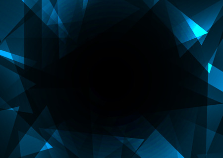 facet: turquoise crystal abstract background, diamond business template, facet technology background, vector illustration, fractal frame abstract dark background