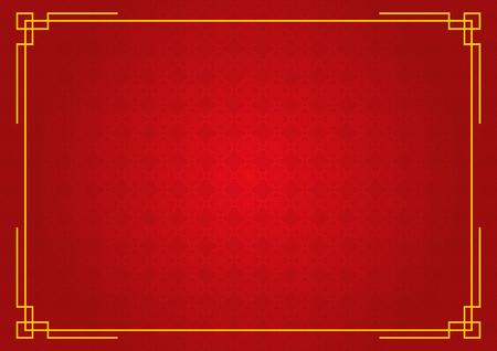 中国の新年の背景、抽象的な東洋の壁紙、赤い円パターンのインスピレーション、ベクトルイラスト