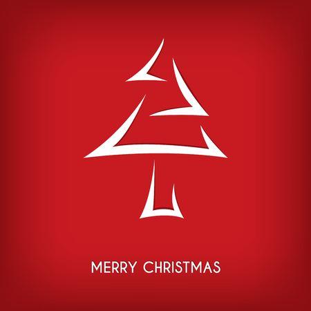 #90112040   Abstract Merry Christmas Card, Arrow Christmas Tree Concept  Background, Vector Illustration