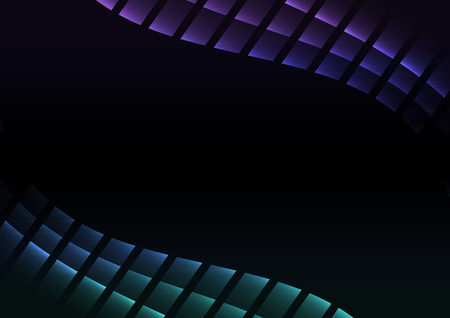 ocean abstract pixel curve background, square layer line, technology geometric background, vector illustration