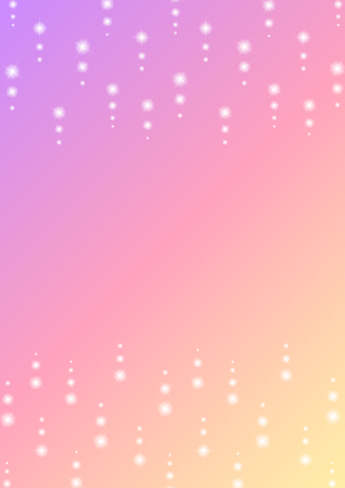 Romantic sparkle abstract background, glitter star dot line with color gradient template, falling starry frame layout, vector illustration.
