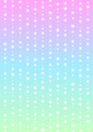 Romantic sparkle abstract background, glitter star line with color gradient template, falling starry layout, vector illustration