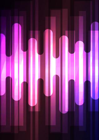 violet melt overlap square in dark background, layer motion backdrop, simple technology template, vector illustration