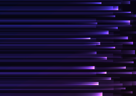 purple overlap pixel speed in dark background, geometric layer motion backdrop, simple technology template, vector illustration