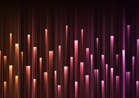 orange pink overlap pixel speed in dark background, geometric layer motion backdrop, simple technology template, vector illustration