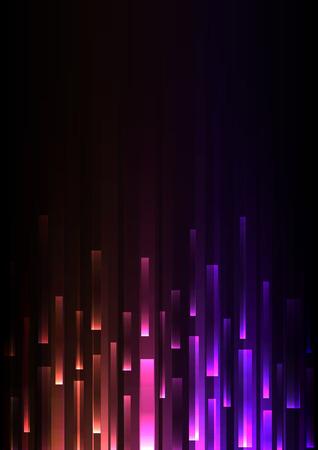 orange purple overlap pixel speed in dark background, geometric layer motion backdrop, simple technology template, vector illustration