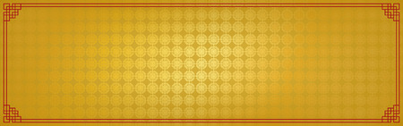 chinese new year banner, abstract oriental background, golden square window inspiration, vector illustration Иллюстрация