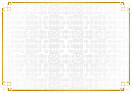 chinese new year background, abstract oriental wallpaper, white square and circle inspiration, vector illustration