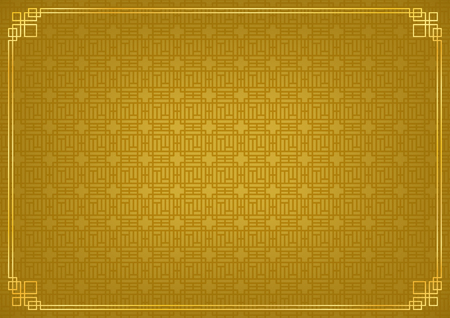 chinese new year background, abstract oriental wallpaper, golden square window inspiration, vector illustration