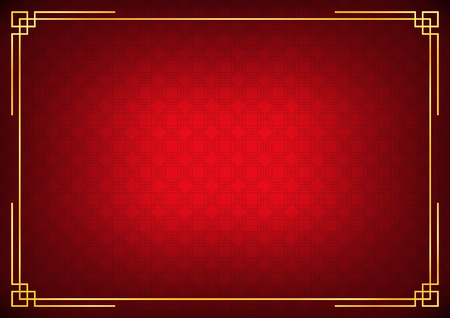 chinese new year background, abstract oriental wallpaper, red square window inspiration, vector illustration