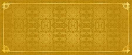 chinese new year banner, abstract oriental background, golden window inspiration, vector illustration
