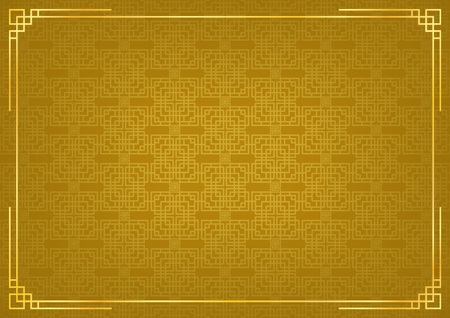 chinese new year background, abstract oriental wallpaper, golden window inspiration, vector illustration Иллюстрация