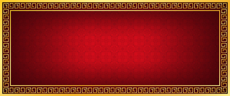 chinese new year banner, abstract oriental background, red window inspiration, vector illustration