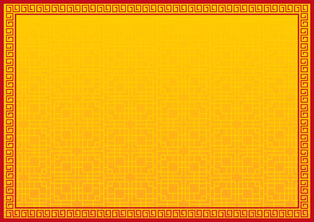 chinese new year background, abstract oriental wallpaper, yellow window inspiration, vector illustration