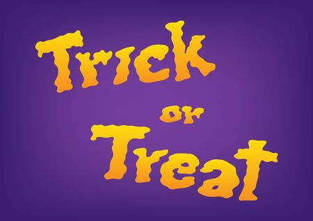 halloween trick or treat text, smoke concept, vector illustration