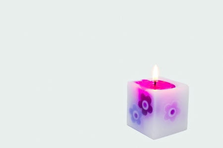 These four pink candles burning photo