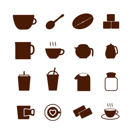 Coffee icon on white background Vector