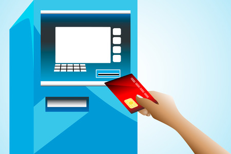 People are using the atm card Stock Vector - 25876625