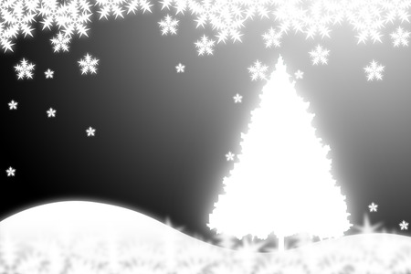 Merry Christmas. Christmas tree back background. vector photo