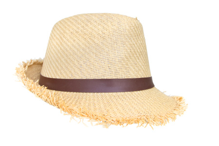 hat isolated on white background photo