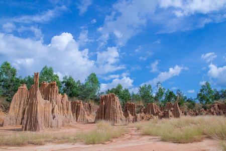 erosion: Soil erosion. erosion of soil. LALU Travel in Thailand.
