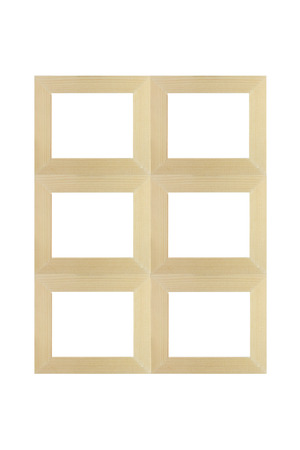 view of a wooden doorway: Windows and doors wood isolated on white background.
