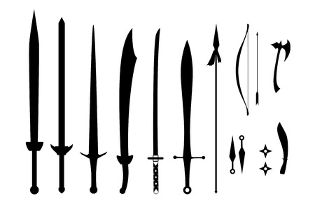 ninja tool: Ancient Weapon  on white background