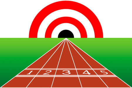 Route to the target. The goal is to crash Stock Vector - 26056639