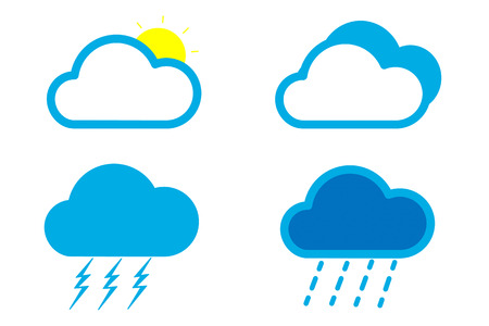Weather cloud icon Vector