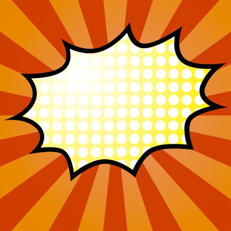 biff: Comic Speech yellow Bubble, Vector illustration
