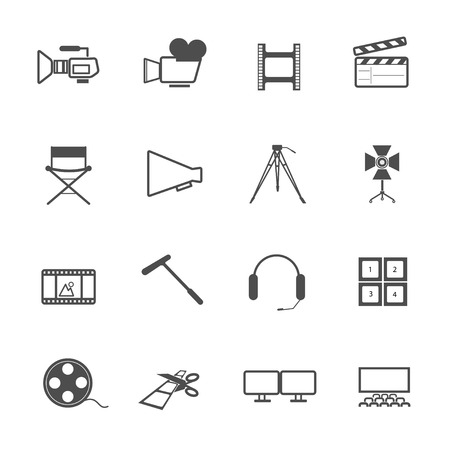 filming: filming tool Icons movie vector