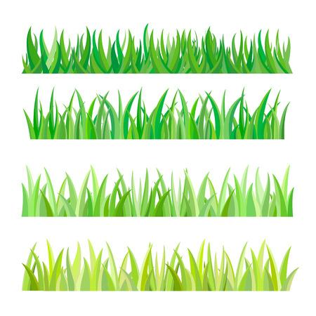 緑の草の孤立、ベクトル イラスト