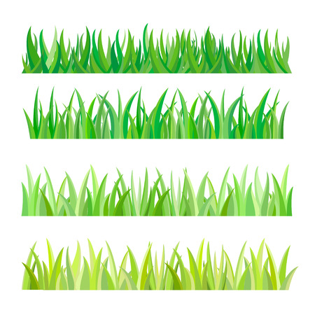 Green Grass Isolated, Vector Illustration Vettoriali