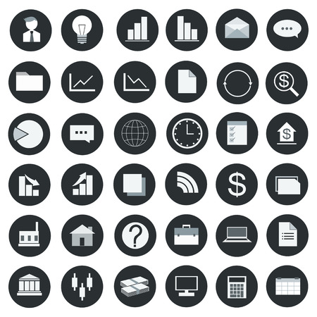 Icon set business vector illustration