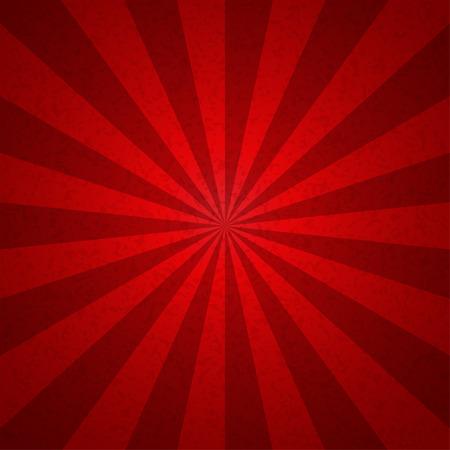 サンバースト赤いトーン ビンテージ パターン背景。ベクトル図  イラスト・ベクター素材